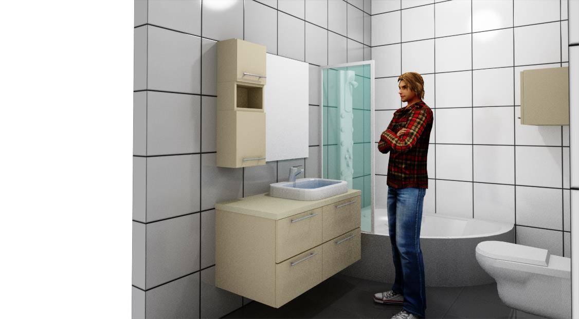 Egyedi fürdőszoba bútor készítés 3D látványterv