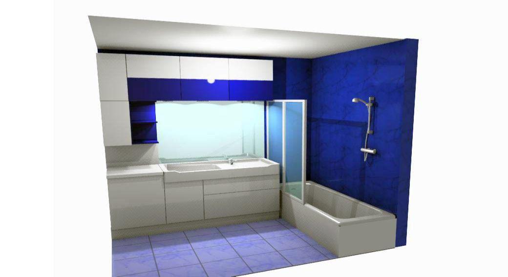 Egyedi fürdőszoba bútor készítés 3D látványtervvel