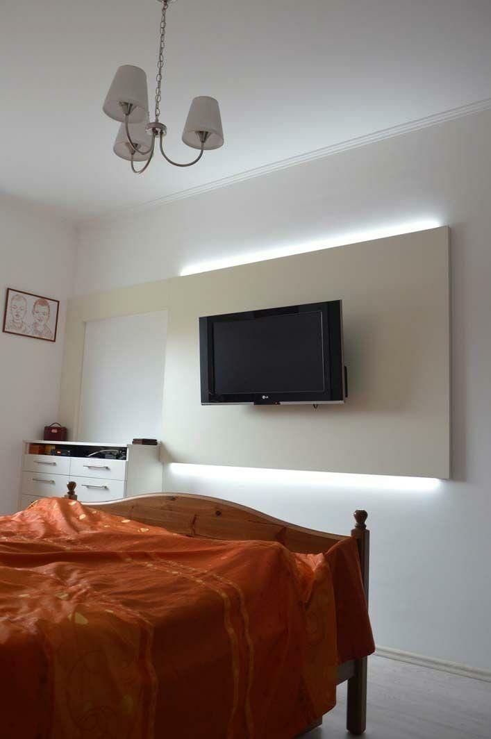 Egyedi hálószoba bútor készítés rejtett bekapcsolt LED világítással