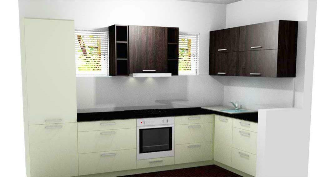 Egyedi konyhabútor gyártás L-alakban, modern kivitelben
