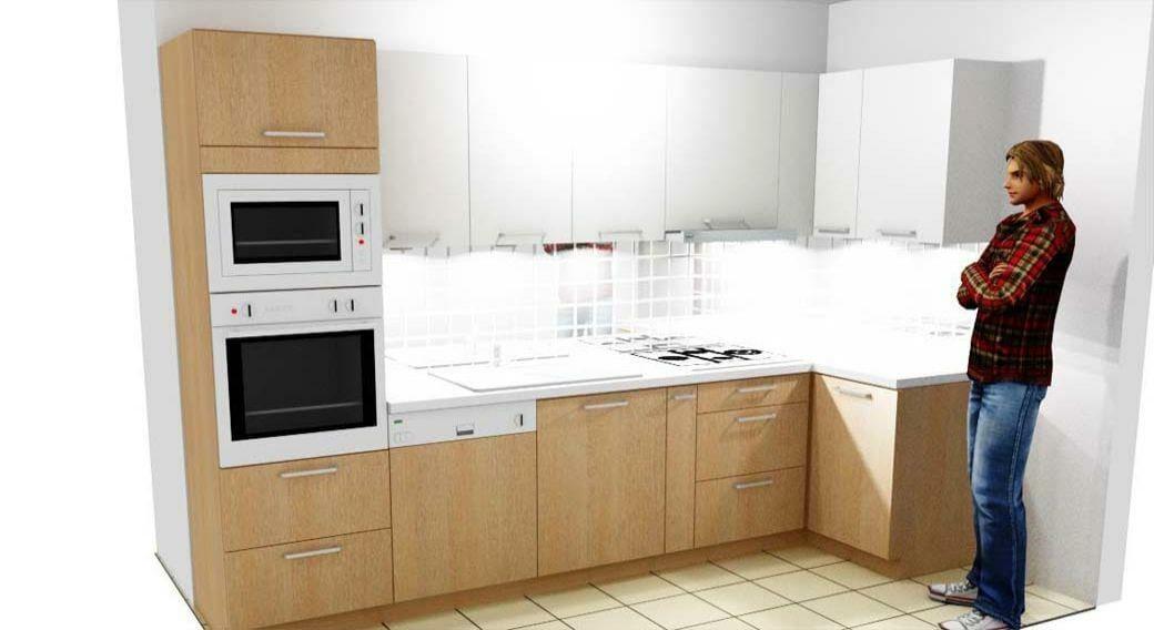 Egyedi konyhabútor készítés 3D látványtervvel, rejtett LED világítással