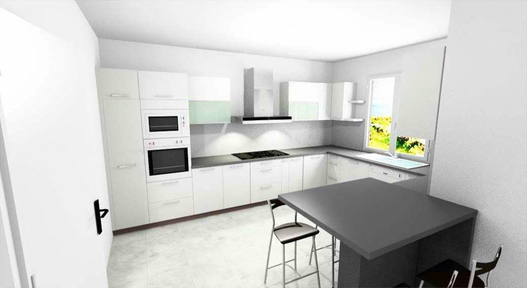 Egyedi konyhabútor készítés 3D látványtervvel és szigetrésszel
