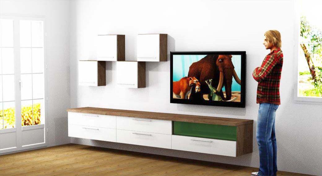 Egyedi nappali bútor készítés 3D látványtervvel