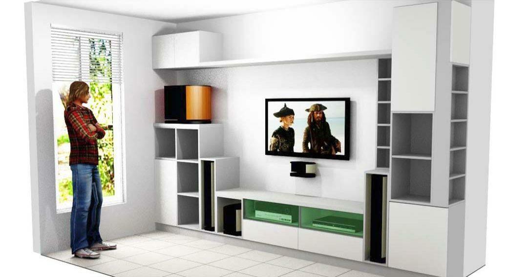 Egyedi nappali bútor készítés valósághű 3D látványtervvel, méretarányosan